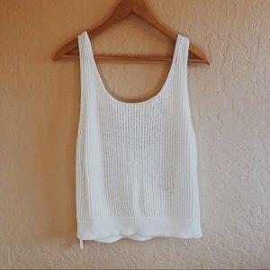 VINCE 100% Cotton WHITE Knit Top